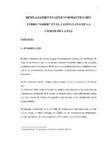 Desplazamiento Lexico Semantico Del Verbo Saber En El Castellano